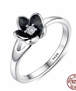 Mystic Floral Silver Ring