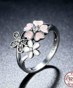 Precious Pink Flower Ring