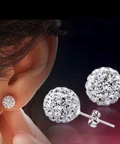 Nice Lady?s Colorful Disco Ball Stud Earring
