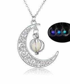 Illuminating Demon Heart Stone Pendant