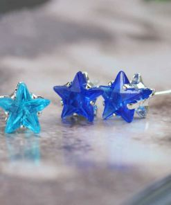 Colorful Crystal Star Sexy Stud Earring