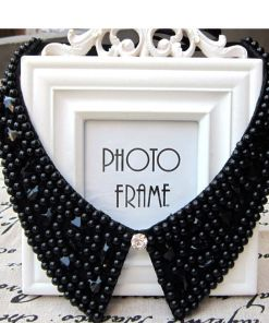 Bold Moon-Bead Collar Necklace