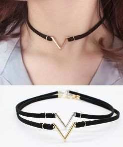 Classic V-Shaped Collar Necklace