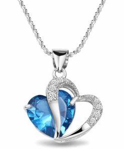 Lovely Heart Crystal Pendent