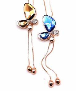 Trendy Butterfly Tassel Necklace
