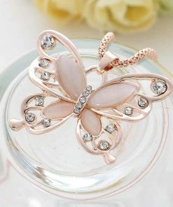 Exotic Fanciful Butterfly Chain Necklace