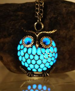 Pretty Luminous Hollow owl Pendant