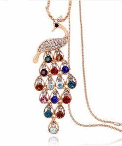 Dazzling Gold Rhinestone Necklace