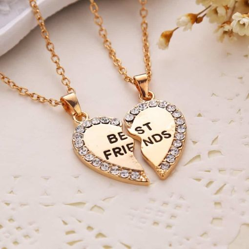 Friends Heart-Shaped Pendant