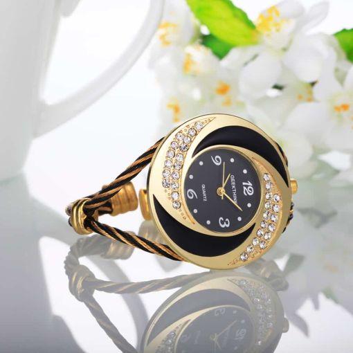 Attractive Rhinestone Bangle Watch