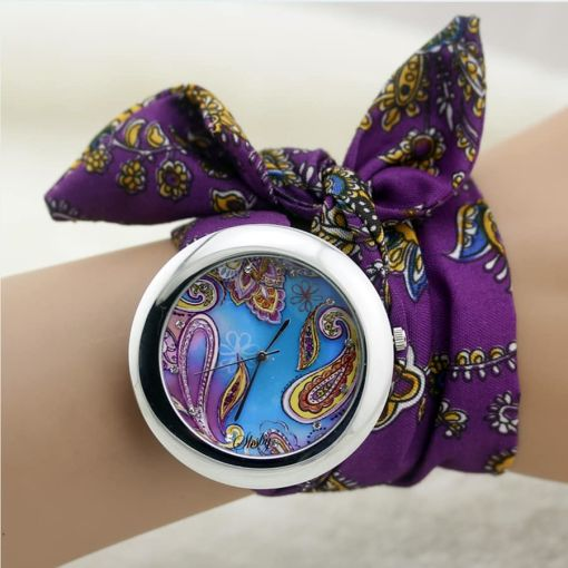 Pristine Fabric Female Wristwatch