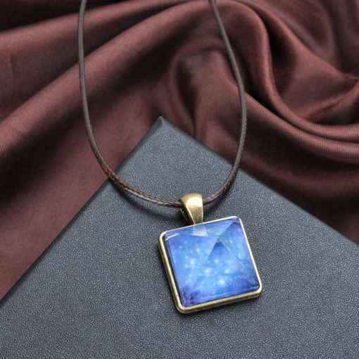 Glowing Pyramid Necklace