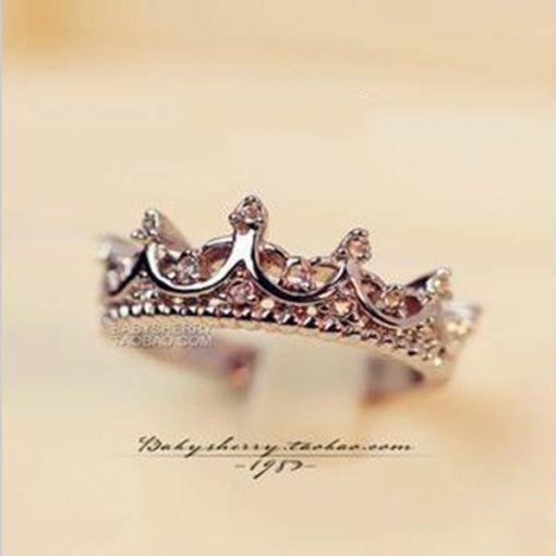 Crystal Royal Crown Ring