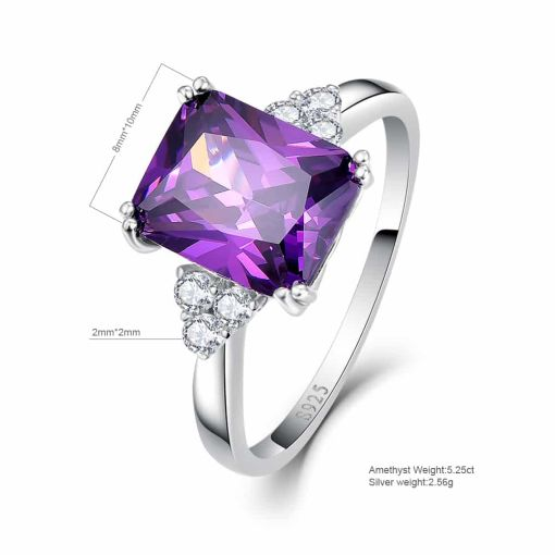 Purple Spinel Spark Ring