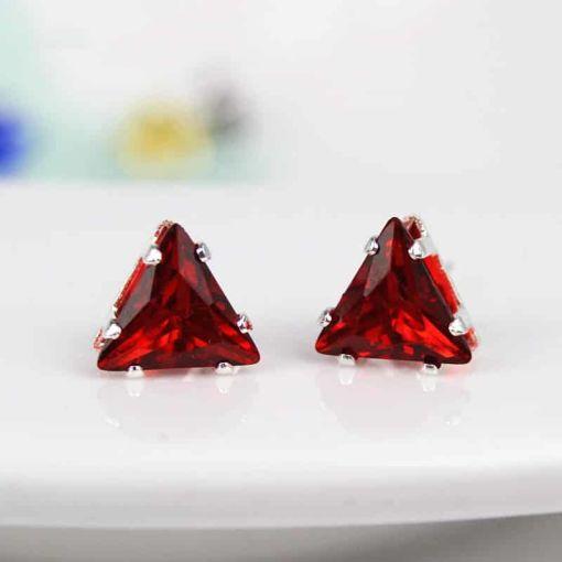 Charming Portable Crystal Triangular Earring