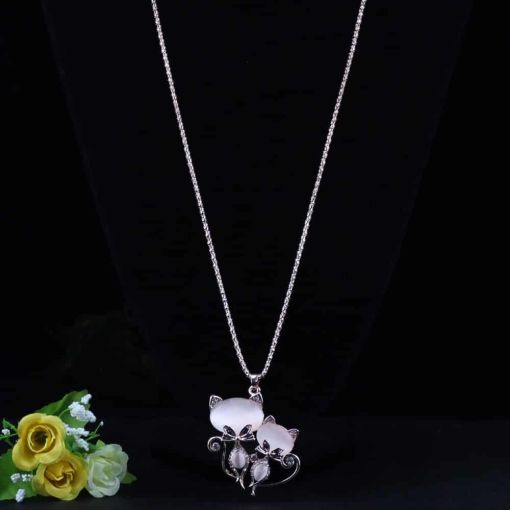 Fanciful Pet-kitten Chain Necklace