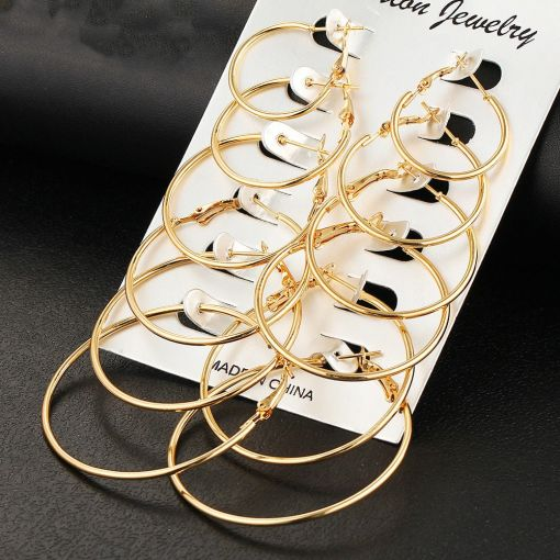 Set of Hot Big-Hoop Earrings Collection