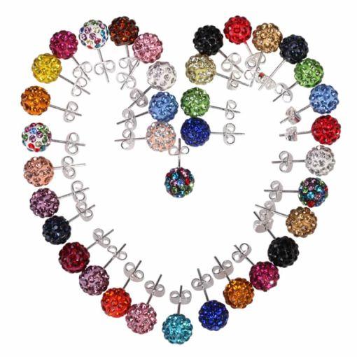 Nice Lady?s Colorful Disco Ball Stud Earring