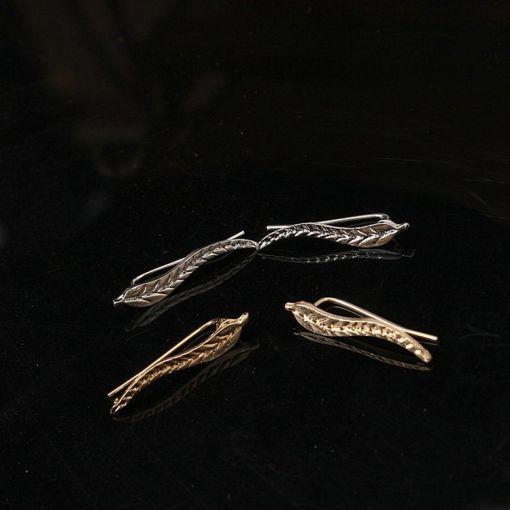 Cutting-Edge Spiky Leaf Stud Earring
