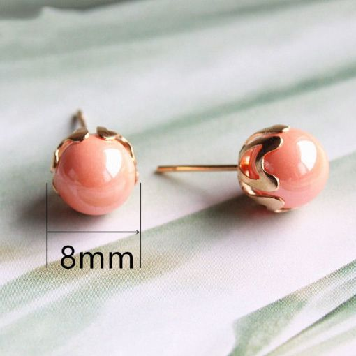 Neat Small Pearly Stud Earring
