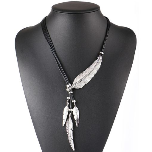 Charming Feathered Wild Girl Pendant