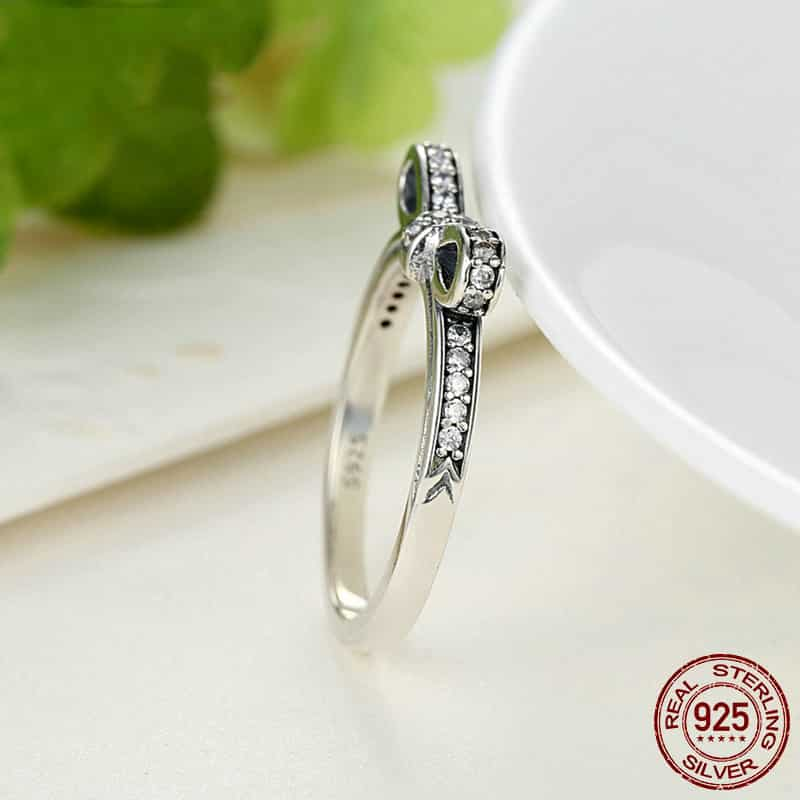 Sparkling Bow Knot Ring Fashionalure