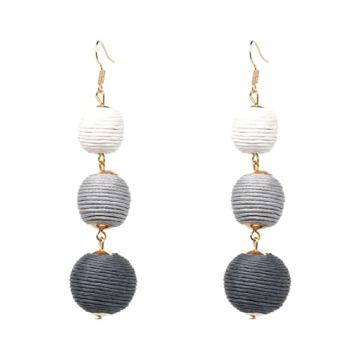 Statement Ball Earrings Pendant