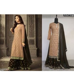Attractive-Trendy-Faux-Georgette-Suits-&-Dress-Materials