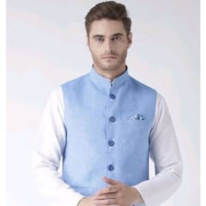 Hangup Mens Stylish Solid Ethnic Jacket Vol 1 (9)