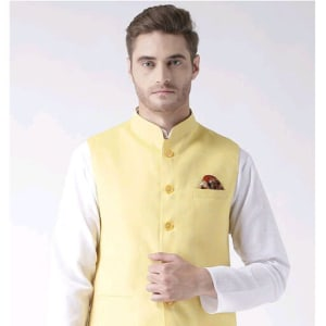 Hangup Mens Stylish Solid Ethnic Jacket Vol 1 (2)