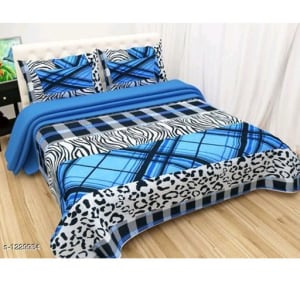 Blissful Comfort Glace Cotton Printed Double Bedsheets Vol 17 (2)
