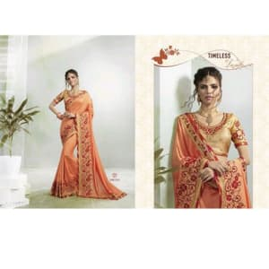 Jivika Ravishing Georgette Silk Embroidery Sarees Vol web 1 (8)