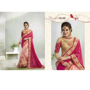 Jivika Ravishing Georgette Silk Embroidery Sarees Vol web 1 (5)