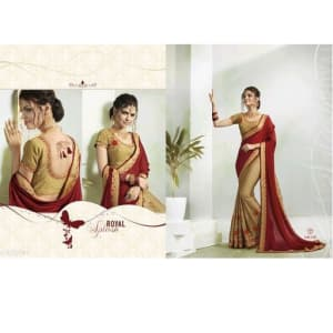 Jivika Ravishing Georgette Silk Embroidery Sarees Vol web 1 (2)