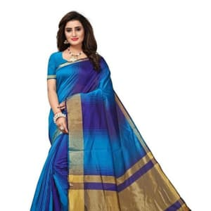 Jivika Attractive Cotton Silk Women's Sarees web (7)