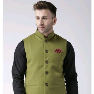 Perfect-Fit Men's Polyester Viscose Waist Coats Vol 1 (6)