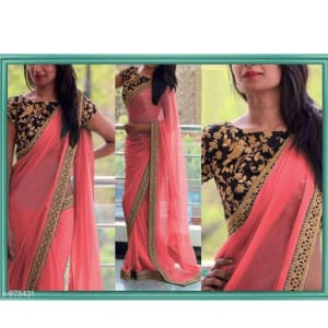 Gorgeous Georgette Thread Work Saree web (1)
