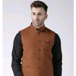 Perfect-Fit Men's Polyester Viscose Waist Coats Vol 1 (8)