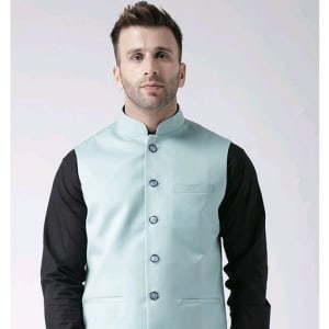Perfect-Fit Men's Polyester Viscose Waist Coats Vol 1 (4)