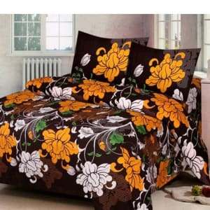 Trendy Cotton Printed 3D Double Bedsheets Vol 9 (8)
