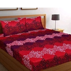 Blissful Comfort Glace Cotton Printed Double Bedsheets Vol 17 (3)