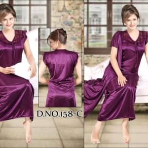 Fancy Satin Night Dresses