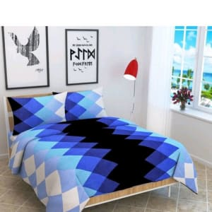 Smart Buy Colorful Beautiful 3D Printed Double Bedsheets Vol 1 (4)