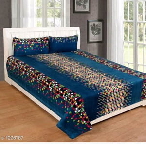 Smart Buy Colorful Beautiful 3D Printed Double Bedsheets Vol 1 (5)