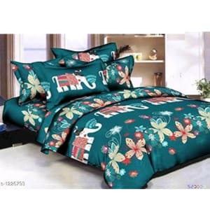 Smart Buy Colorful Beautiful 3D Printed Double Bedsheets Vol 1 (7)