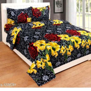 Smart Buy Colorful Beautiful 3D Printed Double Bedsheets Vol 1 (12)