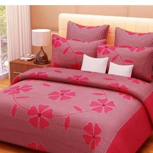 Smart Buy Colorful Beautiful 3D Printed Double Bedsheets Vol 1 (13)