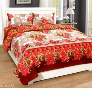 Trendy Cotton Printed 3D Double Bedsheets Vol 9 (3)