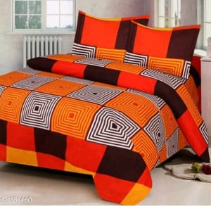 Trendy Cotton Printed 3D Double Bedsheets Vol 9 (1)