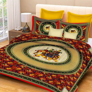 Jaipuri Decorative Printed Double Bedsheets Vol 6 (6)